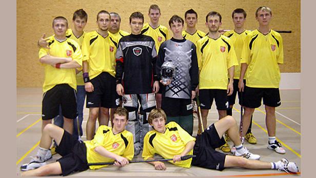 Ikšķiles florbola komanda 2008.gads