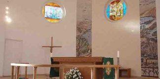 Baznīcas altāra daļa.