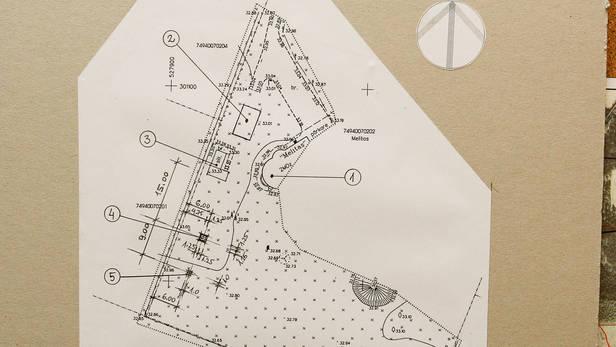 Vēja ģenerātora uzstādīšanas vietas plāns. Ikšķiles lauku ter. Melitas