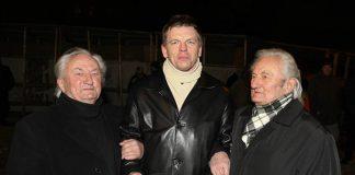 Einārs Repše ar Kordiriģentiem brāļiem Kokariem.