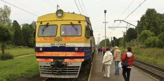 Elektovilciens Ikšķiles stacijā. Ikšķile-Rīga.