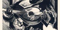 Mandolinas speletajs 1943.gads, Grafiķis Oļģerts Ābelīte