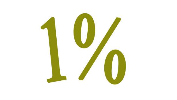 Viens procents.
