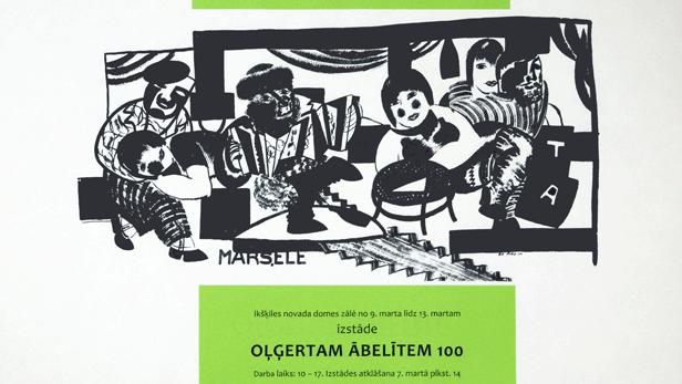 Izstādes Oļģertam Ābelītem - 100 atklāšana