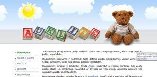 Palīdzība un atbalsts vecākiem ar  bērniem ar īpašām vajadzībām. Ekrānšāviņš no auklite.lv