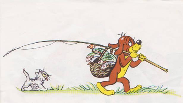 Ilustrācija no grāmatiņas Pifa piedzīvojumi.