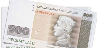 Divas 500Ls banknotes.