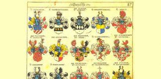 Lappuse no Zībmahera ģerboņu kataloga (1605.g.).