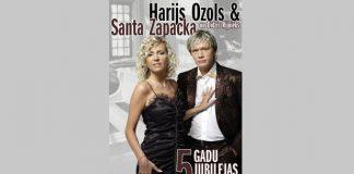 19. jūlijā pl.18:00 Ikšķiles estrādē Santas Zapackas un Harija Ozola 5 gadu jubilejas koncerts.