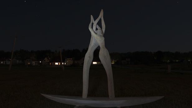 Koka skulptūra Ikšķilē.