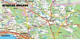 Fragments no Ikšķiles novada kartes.