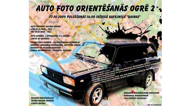 2.autofotoorientēšanās sacensības Ogrē – jau 17.oktobrī!.