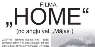 """Filma """"HOME"""" plakāta fragments."""