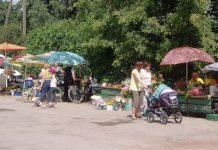 Ielu tirdzniecības vieta Ikšķilē.