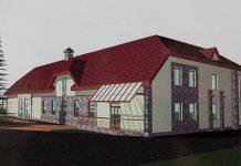 Ikšķiles kultūras biedrības nama rekonstrukcijas meta attēli.