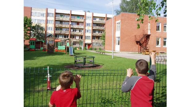 Bērnudārza slēgtā teritorija ir iekārojama.