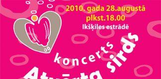 """Akcijas noslēgums - koncerts """"Atvērta sirds"""