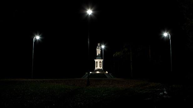 Sv. Meinarda statuja, Ikšķilē.