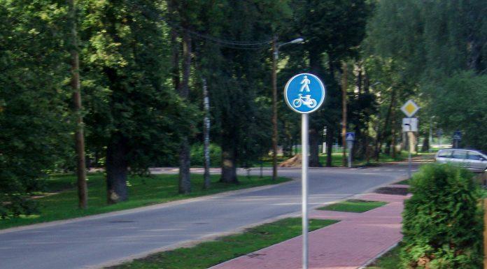 Pāreja pār Lībiešu ielu. Apvienotais sarkanais celiņš Daugavas prospektā. Foto: A.Doveiks