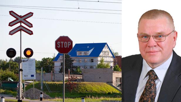 Ikšķiles zilie nami, oi Jumti. (kolāža ar ilustratīvu nozīmi)