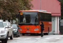 Jaunais skolēnu autobuss.