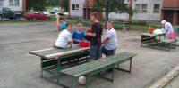 Bērnu laukumiņs pilsētas centra.