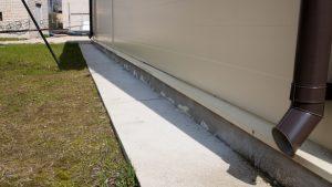 """""""Ikšķiles ūdenssaimniecības attīstība"""" projekta objekts, ūdens apgādes sistēmas jaunā sūkņu māja. Pamati ar nekvalitatīvu un bojātu siltinājumu."""