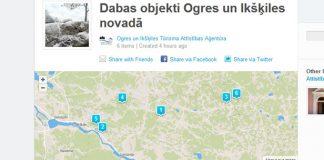 foursquare.com Latvijas centrs profīla ekrānšāviņš.
