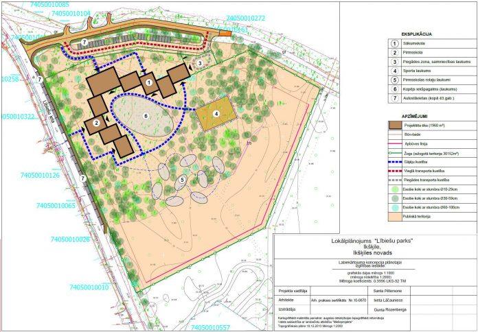 Lībiešu parka detalplānojuma ekrānšāviņš