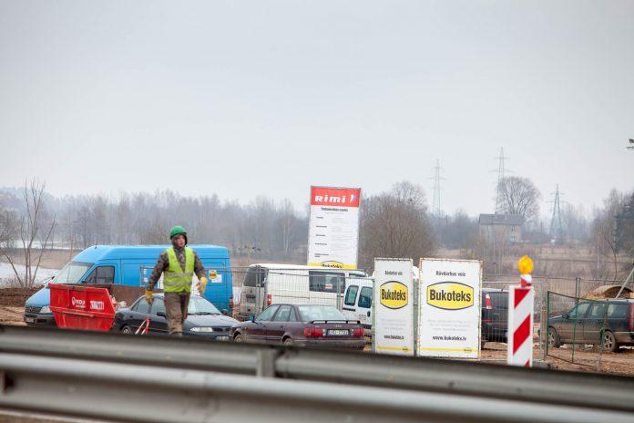 Rimi Latvija lielveikala būvniecība, Ogres pilsētā pie A6 Rīga-Daugavpils