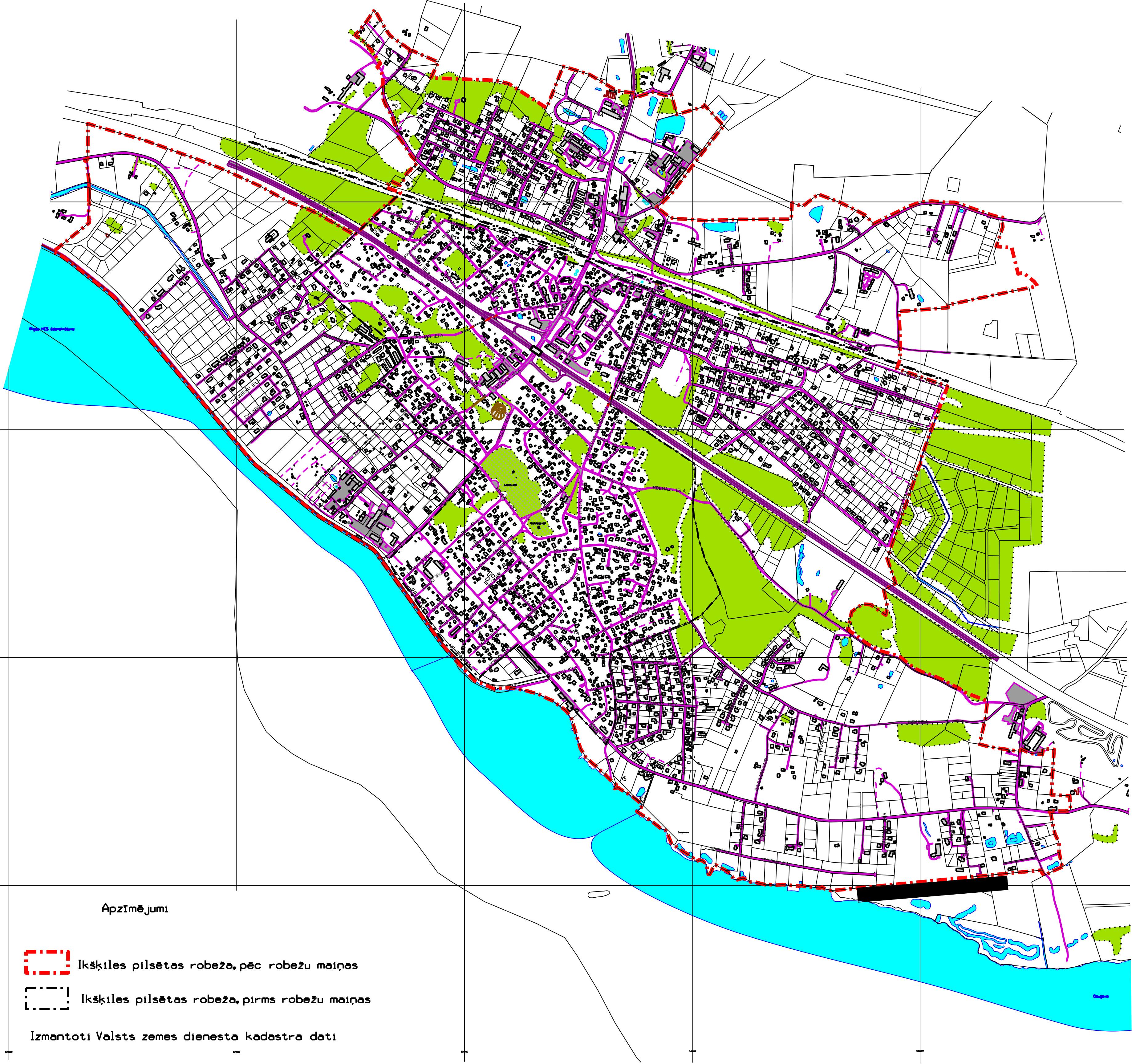 Ikšķiles pilsētas robeža no 2013.gada 28.augusta
