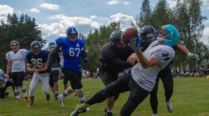Spēle starp Riga Lions un Igaunijas komandu Tartu Titans un Tallin Storm apvienoto komandu.