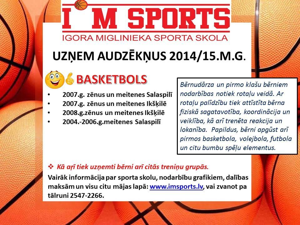IMSports uzņem audzēkņus