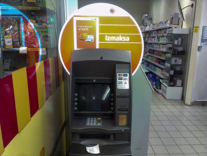 Swedbank piederošais bankomāts, nedarbojas.