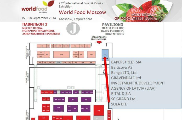 SIA Sula, piedalās World Food 2014 , Maskavā.