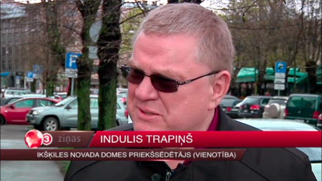 Ikšķiles novada mērs Indulis Trapiņš izsludina maksātnespēju. Foto: TV3 video ekrānšāviņš.