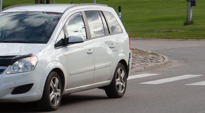 Sadursmē iesaistītā «Opel Zafira»