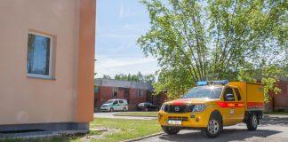 Latvijas Gāze veic apmācības imitējot avārijas situāciju Stacijas ielā, Ikšķilē. Foto: Ikskile.tv