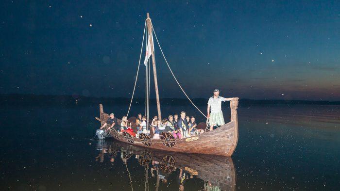 """7.augusts, 22:30,  kuģa """"Üxküll"""" izbrauciena noslēgums."""