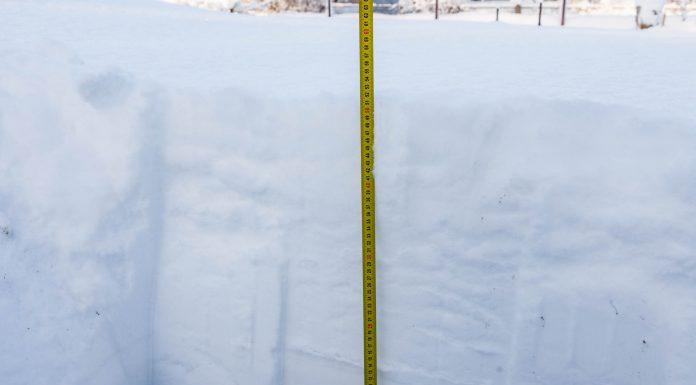 Sniega segas biezums Ikšķilē, 52cm