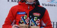Roberts Beikmanis, Baltijas kausa otrais posms, kalnu slēpošanā, Milzu slaloma disciplīnā, vecuma grupā U-12.
