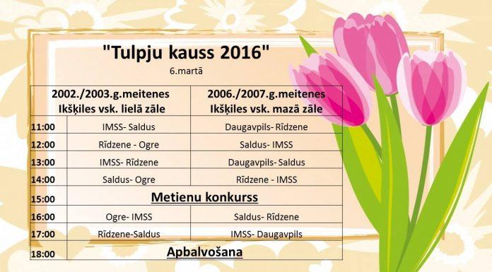 """""""Tulpju kauss 2016"""", dalībnieki"""