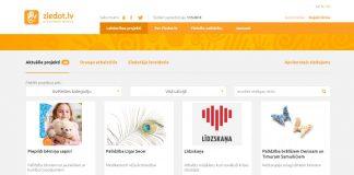 Labdarības organizācijas Ziedot.lv mājaslapas mirkļaattēls.