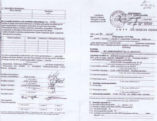 Ikšķiles novada pašvaldības Akts Nr. 13000137494