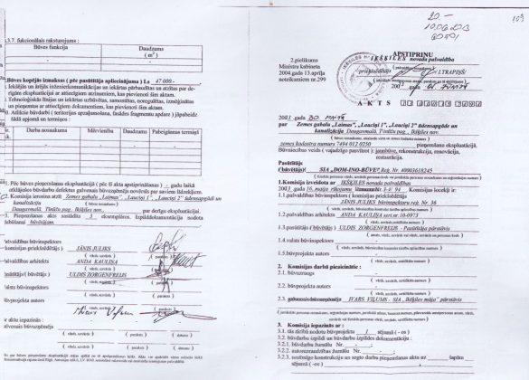 Ikšķiles novada pašvaldības Akts Nr. 13 00015 7494