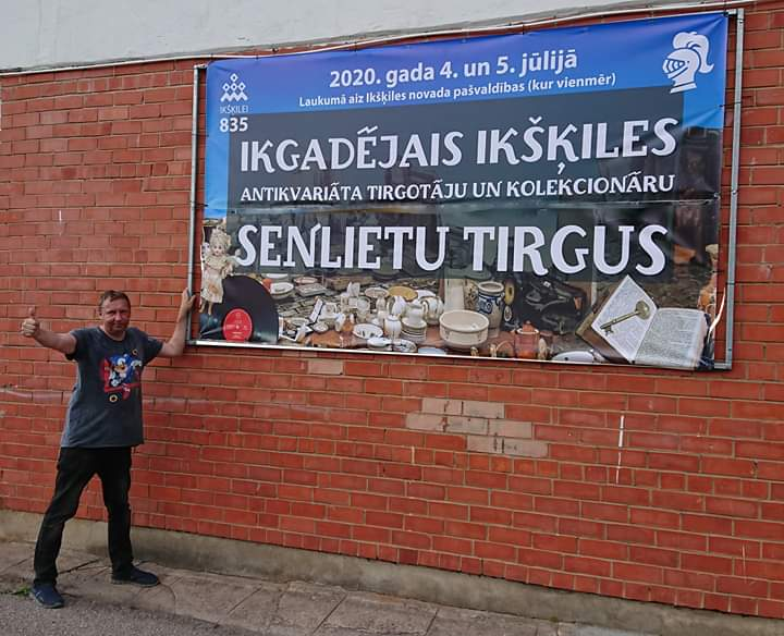 Ikgadejais Ikskiles Antikvariata tirgotaju un kolekcionaru senlietu tirgus